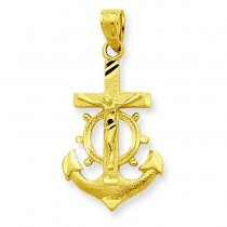 Mariner Crucifix Pendant in 10k Yellow Gold
