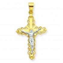 Filigree Crucifix Pendant in 10k Yellow Gold