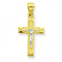 Small Crucifix Pendant in 10k Yellow Gold