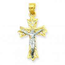Filigree Crucifix Pendant in 10k Yellow Gold