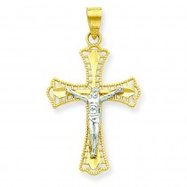 Diamond-Cut Crucifix Pendant in 10k Yellow Gold