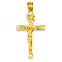 INRI Crucifix Pendant in 14k Yellow Gold