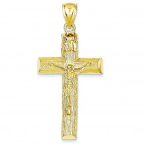 Crucifix Charm in 14k Yellow Gold