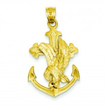 Eagle Mariner Crucifix in 14k Yellow Gold