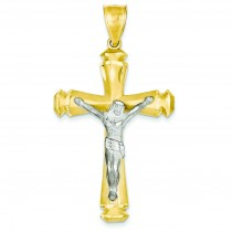 Crucifix Pendant in 14k Two-tone Gold