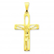 Passion Crucifix in 14k Yellow Gold