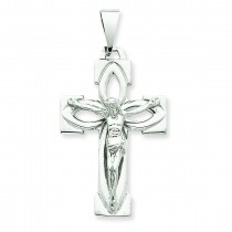 Passion Crucifix in 14k White Gold