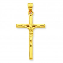Hollow Crucifix in 14k Yellow Gold