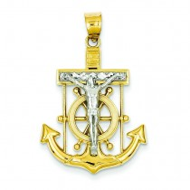 Mariner Cross in 14k Two-tone Gold