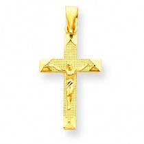 Diamond Cut Crucifix in 14k Yellow Gold