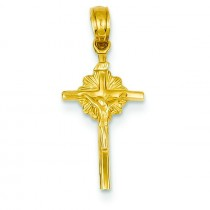 Celtic Crucifix in 14k Yellow Gold