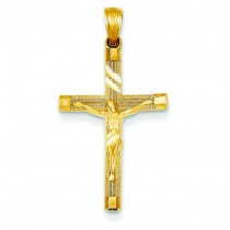 Tipped Crucifix in 14k Yellow Gold