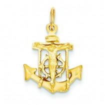 Mariner Crucifix in 14k Yellow Gold