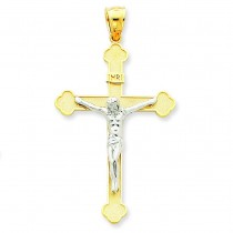 INRI Crucifix in 14k Two-tone Gold
