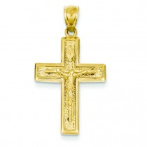 Crucifix Pendant in 14k Yellow Gold