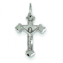 Crucifix Charm in 14k White Gold