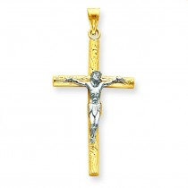 Passion Crucifix in 14k Two-tone Gold