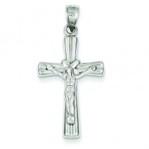 Reversible Crucifix in 14k White Gold
