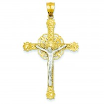 Celtic Crucifix in 14k Two-tone Gold