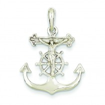 Mariner Crucifix in 14k White Gold