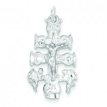 Cara Vaca Crucifix in Sterling Silver