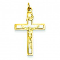 Enamel INRI Crucifix Charm in Sterling Silver