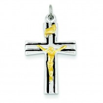 INRI Crucifix Charm in Sterling Silver