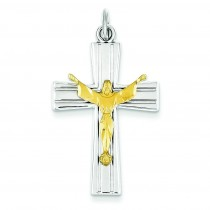 Crucifix Charm in Sterling Silver