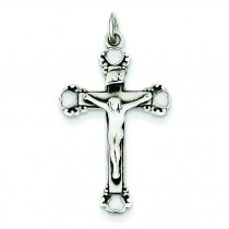 Antiqued Crucifix in Sterling Silver