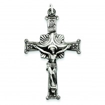 Antiqued INRI Crucifix in Sterling Silver