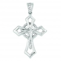 CZ Crucifix Pendant in Sterling Silver