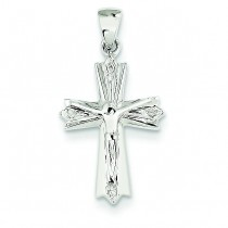 0.01 Ct. Tw. Diamond Crucifix in 14k White Gold