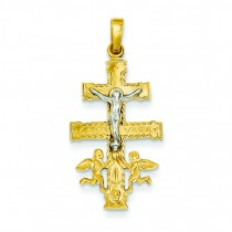Cara Vaca Crucifix in 14k Two-tone Gold