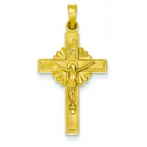 INRI Celtic Crucifix in 14k Yellow Gold