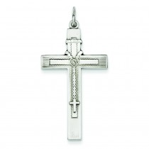 Antiqued Rosary Cross in Sterling Silver