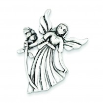 AngelFlower Pendant Pin in Sterling Silver