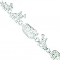Noah's Ark Bracelet in Sterling Silver