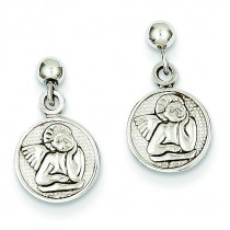 Raphael Angel Earrings in 14k White Gold
