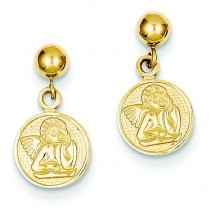 Polished Raphael Angel Earrings in 14k Yellow Gold