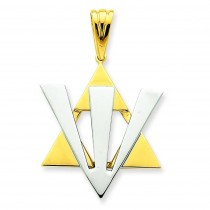 Star Of David Pendant in 14k Two-tone Gold