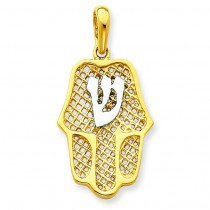 Chamseh Pendant in 14k Yellow Gold