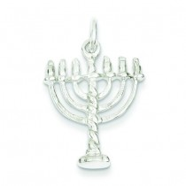 Menorah Charm in Sterling Silver