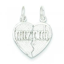 Breakapart Mitzpah Charm in Sterling Silver