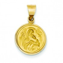 Our Lady Of Perpetual Help Medal in 18k Yellow Gold