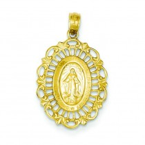Mary Oval Pendant in 14k Yellow Gold