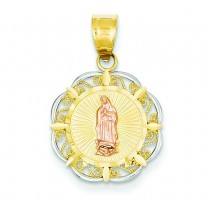 Round Guadalupe Pendant in 14k Yellow Gold