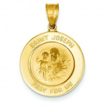 St Joseph Medal in 14k Yellow Gold