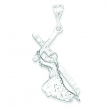 St Andrew Cross Pendant in Sterling Silver