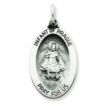 Infant of Prague Medal in Sterling Silver