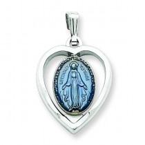 Miraculous Heart Medal in Sterling Silver